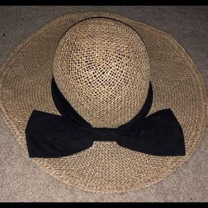 hat with black bow